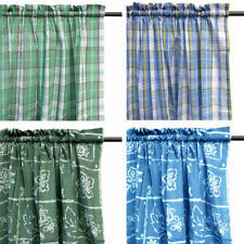 Unbranded Cotton Blend Unlined Panel Window Curtains
