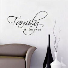 Family Is Forever Saying Art Wall Stickers For Living Room Bedroom Decoration TO