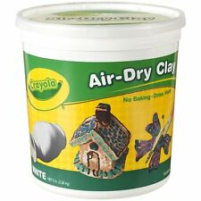Crayola Air Dry Clay 5 Lb Bucket, White , New, Free Shipping
