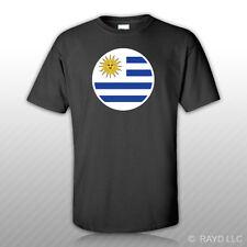 Round Uruguayan Flag T-Shirt Tee Shirt Free Sticker Uruguay URY UY