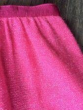J Crew Hot Pink Metallic Wool Knee Length Skirt Size 2 6 34 Brand New