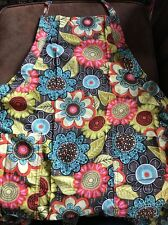 VERA BRADLEY Adult Apron FLOWER SHOWER Full Size, Retired, New with Tags!