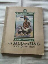 Brinkmann Tabak Bilder Sammlung Sammelbilderalbum AUF JAGD UND FANG KOMPLETT
