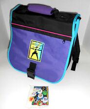 American Girl Black Purple Messenger School Backpack For Girls + 9 Grin Pins