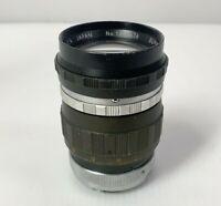 VINTAGE GENTLY USED Ashica Super Yashinon-R 1:2.8 f=13.5cm lens No. 1380676