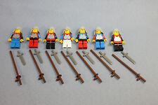 LEGO 7 Figuren / Ritter für die Burg / Schwert und Lanze / Classic Ritter