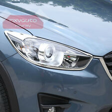 New ABS Chrome Trim Front Head Light Cover For Mazda CX-5 2013-2016