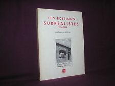 Les éditions surréalistes 1926-1968 par Georges Sebbag surréalisme Breton