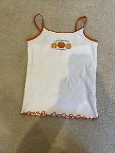 Gymboree Girls Camisole Undershirt Pumpkins Size 7-8 EUC
