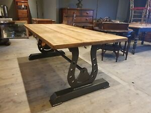 Rustic Industrial Reclaimed Metal The Shire  Dining Table  Horse shoe Steampunk