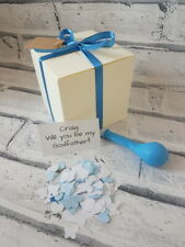 Will you be my Godfather, pop the balloon,christening , personalised gift box