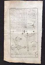 Original Antique Book Print/Plate 1772, MERIDIAN, MICROSCOPE, DIAGRAMS 1700s