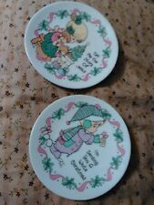 Precious Moments Tell me the story of Jesus/ White Christmas Miniature Plates