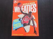 1989 Michael Jordan Wheaties Poster Part A Chicago Bulls