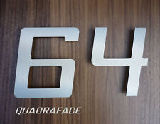 QUADRAFACE digital square italic stainless steel house number - FAST UK delivery