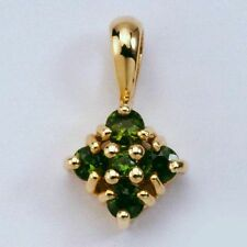 Emerald Natural Yellow Gold Fine Necklaces & Pendants