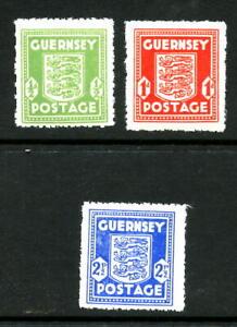 GUERNSEY N1-N3, 1941-44 OCCUPATION, MINT, VLH (GUR001)