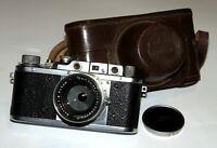 Ultra Rare Soviet TSVVS (VTSVS) 1950 camera SN 465 CARL ZEISS SONNAR 2/50 lens