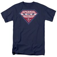 "Superman - Superman For President ""Navy"" Color T-Shirt DC Comics Sizes S-3X NEW"