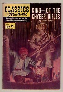 Classics Illustrated #107 - King of Khyber Rifles - 1st Steve Ditko art VG (4.0)
