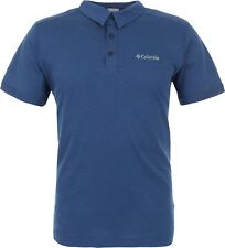 Columbia Men's Lookout Point Novelty Polo Shirt short sleeve all sizes blue NEW