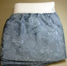 """JC Penney Floral Jacquard Bed Skirt ~ 13.5"""" Drop ~ Blue ~ Twin"""
