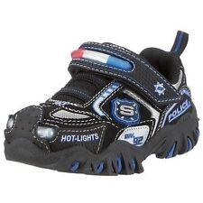 SKECHERS Shoes DAMAGER Police HOT-LIGHTS 90351N Black/Royal/Silver Sz 5 NEW
