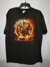 MENS SIZE LARGE THE HUNGER GAMES BROWN GRAPHIC TSHIRT NEW #13991