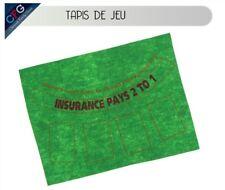 Tapis de jeu de carte en feutre vert pour Cartes à jouer blackjack poker