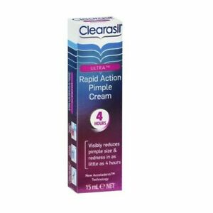 Clearasil Ultra Rapid Action Pimple Cream Visibly Reduces Pimple Redness 15ml