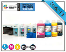 Rihac Refillable Cartridge Set for Epson B310 B510 Printer + Pigment Refill Inks
