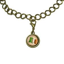 Vintage Ireland Flag Irish Charm with Chain Bracelet