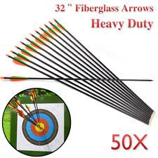 "50x 32"" FiberGlass Arrows Archery Hunting Compound Bow Fiber Glass AU"