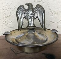 VTG. Brass/bronze MCM Eagle art Cigarette Cigar Ashtray ash tray trinket holder