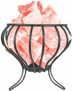 Himalayan Secrets Feng Shui Crystal Salt Basket/ Cage Lamp - Dimmer Cord