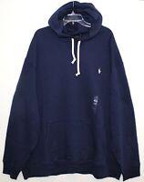 Polo Ralph Lauren Big Tall Mens Navy Blue Heavy Hoodie Sweat Jacket NWT 2XLT