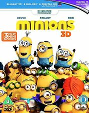 Minions 3D + 2D Blu-Ray with lenticular slipcover BRAND NEW FREE SHIPPING