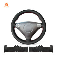 MEWANT Black PU Leather Car Steering Wheel Cover for Mercedes Benz W203 R171