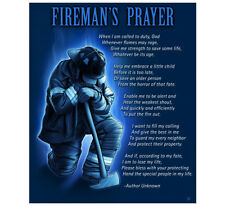 "Fleece Throw Blanket 50"" x 60"" FIREMAN'S PRAYER FIREFIGHTER FIREMEN FIRE DEPT"