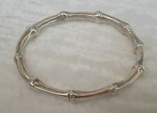 TIFFANY & CO. Authentic Sterling Silver Heavy Bamboo Bangle Bracelet