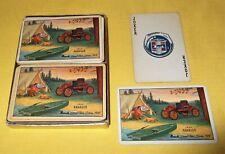 Vintage 2 Decks Nash Rambler Playing Cards & Box Campbell Motor Sales Streator