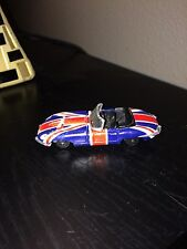 1999 PLAYING MANTIS JOHNNY LIGHTNING British Flag Jaguar Convertible Rare