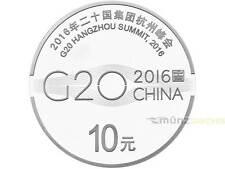 10 Yuan G20 Hangzhou Summit Gipfel China 1 oz Unze Silber PP 2016