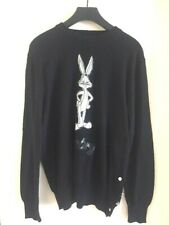 Iceberg History Bugs Bunny Sweater Size L 100% Wool/cashmere blend
