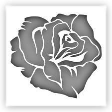 "Rose #1 Flower Stencil Template Reusable Plastic (Sizes: 6"" 9"" 12"")"