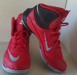 Nike Men's Prime Hype DF II Basketball Shoes 806941-600 Size 11.5 Red~Black