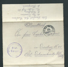 WWI Germany Deutsche Military Feldpost Field Post Cover Reserve Division