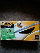 Bic Xtra Life Round Stic Ball Pens Black Ink Medium 12 Pack