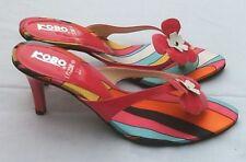WoW FLOWER POWER Damenschuhe Pink High Heels 7cm Pumps Sommer Schuhe 38