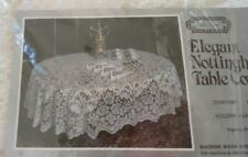 NOS Vintage Nottingham Lace Tablecloth PALAIS Ecru Banquet Table Charm